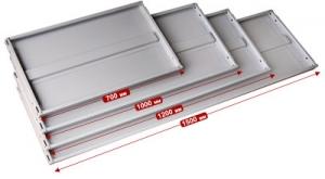 Полка 120/40 для металлического стеллажа купить на выгодных условиях в Иркутске